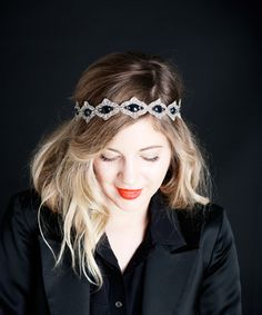 accessorize a boho stylish look with this beautiful tieback piece! Graduation Hairstyles, Vintage Hair Accessories, Crystal Headband, Blonde Ombre, Hair Art, Trendy Hairstyles, Crystal Beads, Her Hair, Headpiece