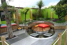 Warm Stone Patio Pergola Home Decor Designs Modern Garden Design Patio Backyard Pool Landscaping, Backyard Pool Designs, Small Backyard Design, Small Backyard Landscaping, Backyard Ideas, Landscaping Ideas, Patio Ideas, Modern Backyard, Small Patio