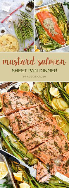 Mustard Salmon Sheet Pan Dinner