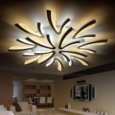 NEO Gleam Acrylic thick Modern led ceiling chandelier lights for living room bedroom dining room home Chandelier lamp fixtures - All For Decoration Drop Ceiling Lighting, Modern Led Ceiling Lights, Ceiling Chandelier, Acrylic Chandelier, Ring Chandelier, Luxury Chandelier, Ceiling Pendant, Pendant Lights, Chandeliers