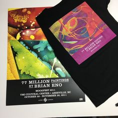 Brian Eno 77 Million Paintings T-Shirt & Poster Bundle Passion Pit, Roxy Music, Venice Biennale, Art Installation, Inspire Others, Exhibit, The Outsiders, Encouragement, Paintings