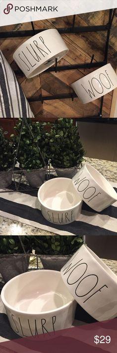 Rae Dunn Dog Bowl Set Ceramic Magenta Pet Bowls. Dishwasher safe. Sold as a set. Rae Dunn Other