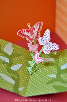 Moving Arm Pop-Up Card tutorial by ShirA/the little green box (070712) [moving arm mechanism]