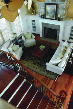 This beautiful staircase overlooks the great room. The Jerivale #1033