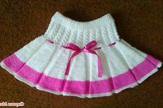 Детские вязаные юбки спицами