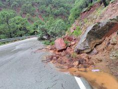 Los trabajos de retirada de desprendimientos de árboles y rocas se han centrado en vías de la Axarquía, Serranía de Ronda y Guadalhorce