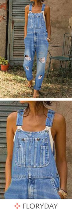 Casual jeans trousers overall for women Cute Summer Outfits, Spring Outfits, Casual Outfits, Outfit Summer, Casual Jeans, Winter Outfits, Cute Overalls, Overalls Outfit, Loose Jeans