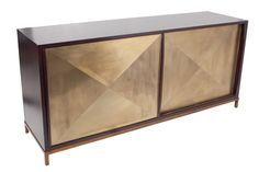 "Thor Sliding Cabinet - Hand-carved Hardwood w/Resin Doors, oly studio  72.5""W x 20""D x 32.25""H"