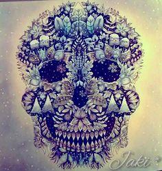 Enchanted Forest Skull