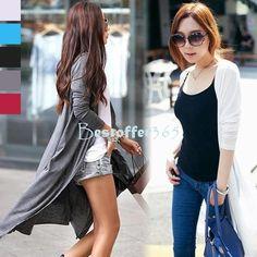 Women Long Maxi Cardigan Sweater Casual Cotton Solid Button female Knitwear Shirt Tops $10.04 (free shipping)
