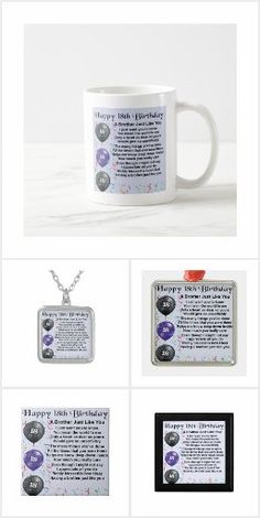 Brother Poems, Gifts For Brother, Detail Shop, Holiday Photos, Business Supplies, Mugs, Birthday, Happy, Holiday Pictures