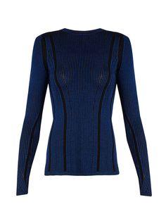 Striped ribbed-knit sweater | Diane Von Furstenberg | MATCHESFASHION.COM