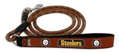 Pittsburgh Steelers Football Leather Leash - L