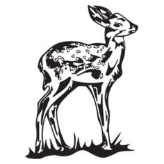 """Style and Apply Fawn Wall Decal Size: 59"""" H x 43"""" W, Color: Black"""