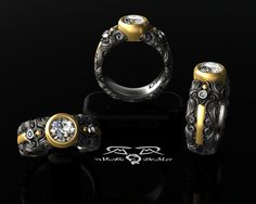 """""""Vollmacht Engage"""" Never apologize for love or style.  Stunning and unexpected. These are words we would use to describe this commitment ring from the Umbra-Vollmacht series."""