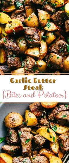 Garlic Butter Steak Bites and Potatoes #Garlic #Butter #Steak #Bites #and #Potatoes Steak Recipes,Potato Recipes,Healthy Recipes For Weight Loss,