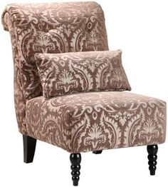 Lainey Tufted Slipper Chair Love this style chair at the bottom of bed - Fabric TBD