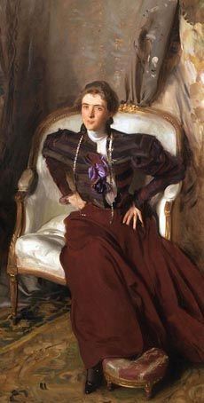 "John Singer Sargent's portrait of ""Mrs. Charles Thursby"" (circa 1897-1898)— includes characteristics of the ""new woman,"" a term applied to women at the turn of the 19th century who demanded greater voice and a place in the public sphere"