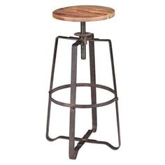 Zuo Modern - Zuo Modern Wilde Distressed Natural Wood Barstool - Wilde Barstool will add sophistication to your bar or entertainment area. Elm wood seat features neutral peat color that will fit in with any decor. This rustic piece will resemble vintage fans.