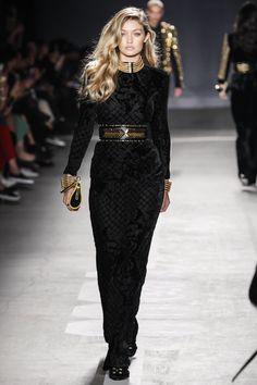 Gigi Hadid Walks Balmain x H&M Runway Show