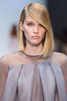 An angled bob is one of the best Hairdos For Fine Hair