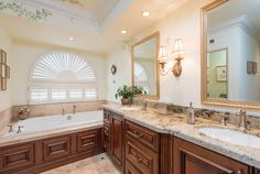 Traditional Master Bathroom with St Cecilia Rio, Granite., Raised panel, interior wallpaper, Complex Granite, Master bathroom
