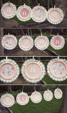 In honor of my aunt's amazing talent... I'm sharing her adorable idea on how to make paper plate bunting. For grand daughter's 5 year old birthday, she creating the princess party to beat all princ...