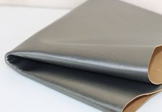 Metallic Genuine Leather, Gray Green Goat Skin by JLLeatherSupplies on Etsy