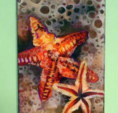 Starfish  Beach Art  Ocean  Wall Hanging  Home by QueenOfBrushes