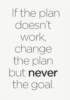 Adjusting the plan