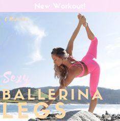 Sexy Ballerina Legs Workout Ballerina Legs, Ballerina Workout, Dancer Leg Workouts, Fun Workouts, Body Sculpting Workouts, Dancer Legs, Free Workout Plans, Calf Muscles, Glutes