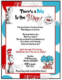 Dr Seuss Baby Shower Invitation - I think this one is my favorite