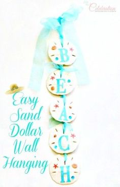 Easy Sand Dollar Wall Hanging