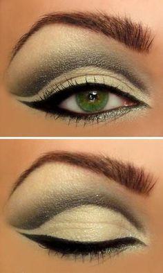 Green eyes, green eyeshadow
