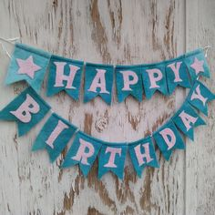 PDF PATTERN Happy Birthday Bunting Banner for sewing embroidery needle felting pennant wool felt Happy Birthday Yard Signs, Happy Birthday Bunting, Birthday Fun, Pdf Sewing Patterns, Free Sewing, Hand Sewing, Bunting Banner, Embroidery Needles, Paper Decorations