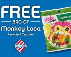FREE Bag of Monkey Loco Gummi Bears at Stripes Stores - http://www.freestuff20.com