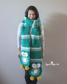 owl super scarf (s) not sure I'd make it this long but love the owls