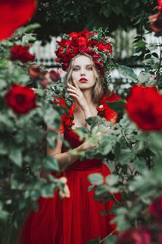 Red Rose, digital photography by Jovana Rikalo - Ego - AlterEgo Red Photography, Fantasy Photography, Creative Photography, Digital Photography, Portrait Photographers, Portraits, Red Wedding Dresses, Lady In Red, Red Roses