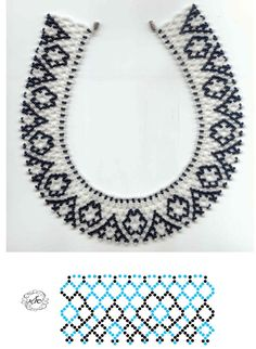 Pattern tutorial for collar neckless. Diy Necklace Patterns, Beaded Jewelry Patterns, Beading Patterns, Seed Bead Jewelry, Bead Jewellery, Handmade Beads, Handmade Jewelry, Beads And Wire, Beading Tutorials