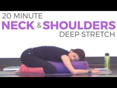 20 Minute Deep Stretch Yoga for Neck & Shoulders | SarahBethYoga - YouTube