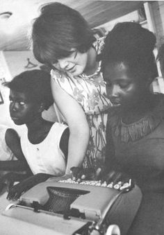 """[© Matt Herron] Mississippi Freedom Summer. 1964. Teaching in a Freedom School. A must see link!  """"The atmosphere in the class is unbelievable. It is what every teacher dreams about — real, honest enthusiasm and desire to learn anything and everything. The girls come to class of their own free will. They respond to everything that is said. They are excited about learning. They drain me of everything that I have to offer so that I go home at night completely exhausted but very happy in…"""