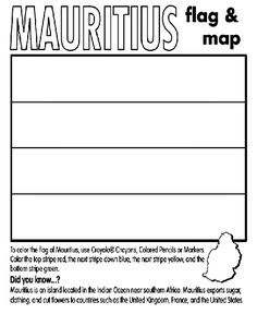Mauritius Coloring Page Mauritius Geography Themes Free