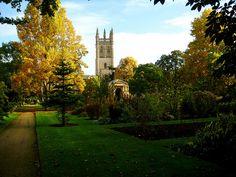 botanic gardens, oxford, england.