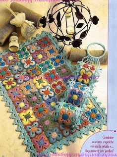Multicolored flower rug - fully charted