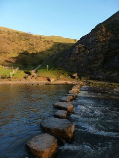 The stepping stones, Dovedale, Peak District