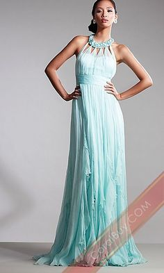 Long Beaded Neckline Dress Prom Dress,Celebrity Dress,Sexy Evening Gowns