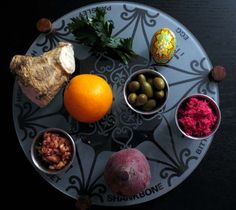 Seder plate for Holy Thursday Passover...
