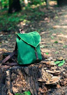 Dark Green Leaf Mini Backpack Women  Rucksack Boho Festival Backpack  Waterproof Hipster Backpack Toddler Backpack Small Rucksack USD) by  LeaflingBags 2a8f4e74e1eb6