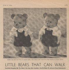 1954 June 5th Womans Weekly, Rose Buds, Knitting Patterns, June, Walking, Thankful, Teddy Bear, Dolls, Crochet