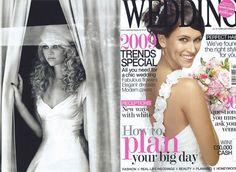 Wedding Magzine, with Martha wedding dress close up